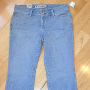 Gap jeans ultra low rise cropped stretch 12 new